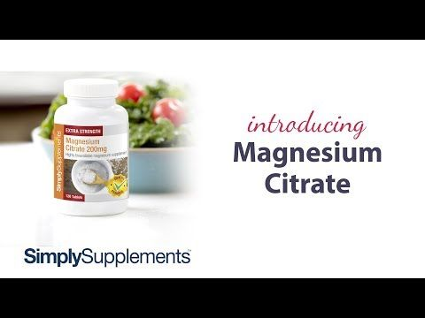 Magnesium Citrate | Simply Supplements - Contributes to the reduction of tiredness and fatigue.