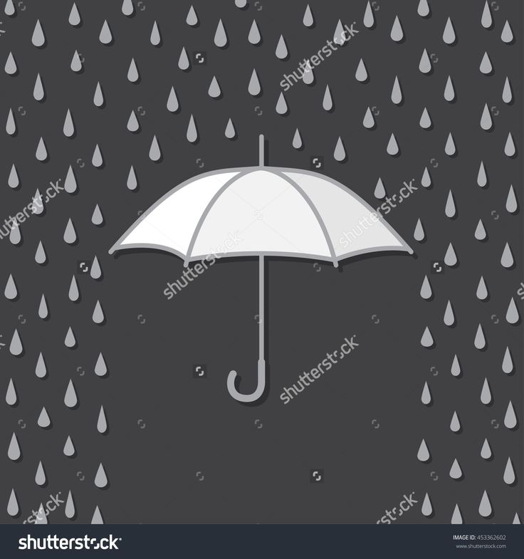 Background With Umbrella Protects From Rain, Vector Illustration - 453362602 : Shutterstock