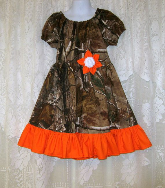 Girls Camo Dress Girl's Camo Flower Girl by YogiBearlySewing