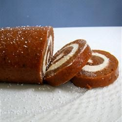 "Granny Kat's Pumpkin Roll | ""This was my very first pumpkin roll. I was always afraid to try a pumpkin or jelly roll, but after watching the video, I gave it a try. It was delicious. Turned out great! -sue"