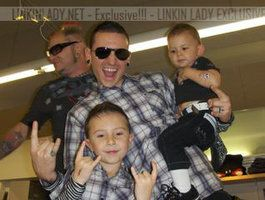 Chester Bennington and his boys