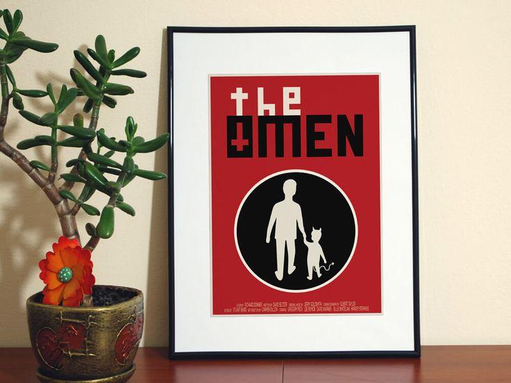 The Omen Fan Art-The Omen Home Decor-The Omen Wall Art-Horror Movie Poster-Horror Fan Art-The Omen Poster-Classic Movie poster 9.99 USD ArtByDDesigns