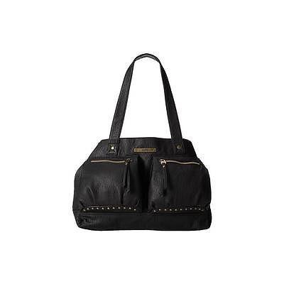 Vans-Willa-Medium-Shoulder-Bag-Womens-Black-Faux-Leather-Zippered-Purse-New-NWT