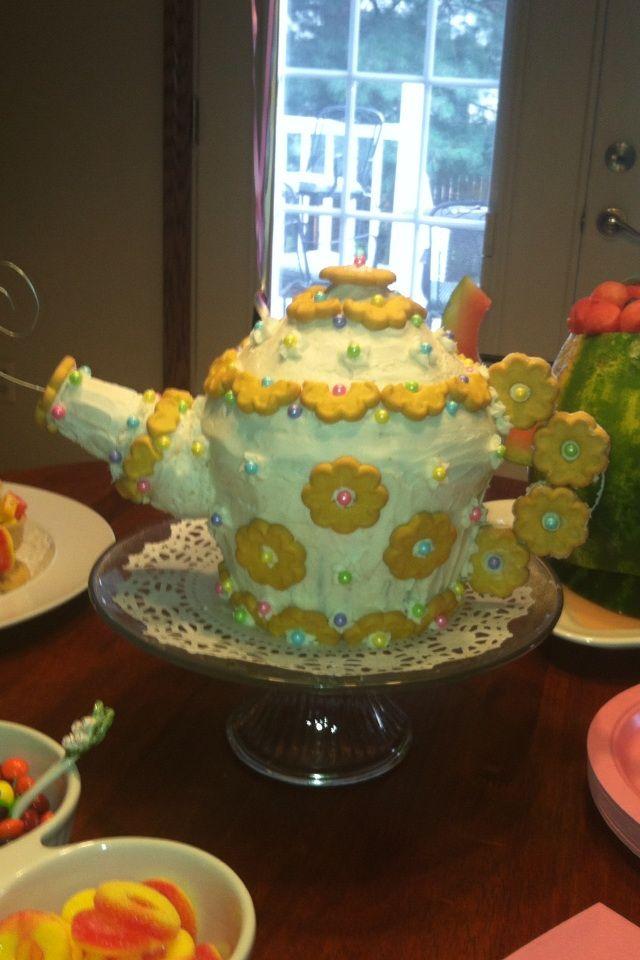 Teapot Cake Made With The Giant Wilton Cupcake Pan Happy
