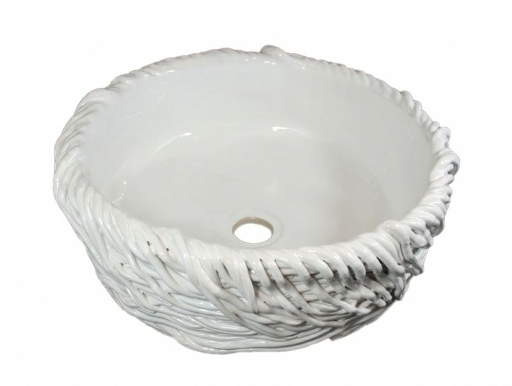 Radochna - artystyczna pleciona umywalka ceramiczna