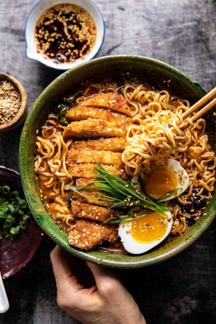 30 Minute Spicy Miso Chicken Katsu Ramen. - Half Baked ...