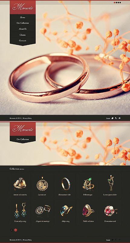 jewelry website template designs pinterest website template