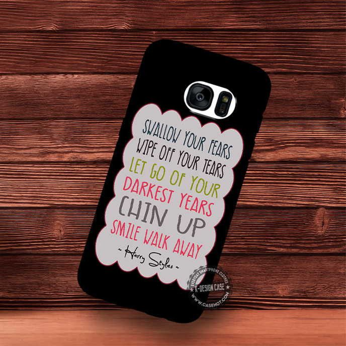 Harry Styles Quote One Direction Ribbon Banner Music - Samsung Galaxy S7 S6 S5 Note 7 Cases & Covers