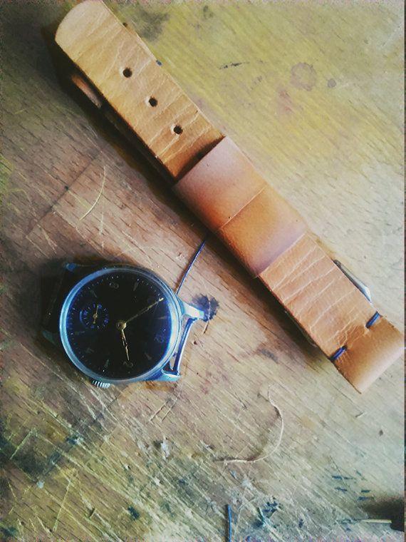 Thin calfskin watch strap