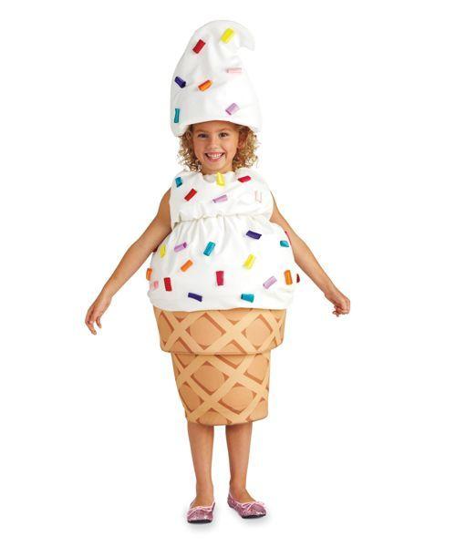 ice cream cone girls costume