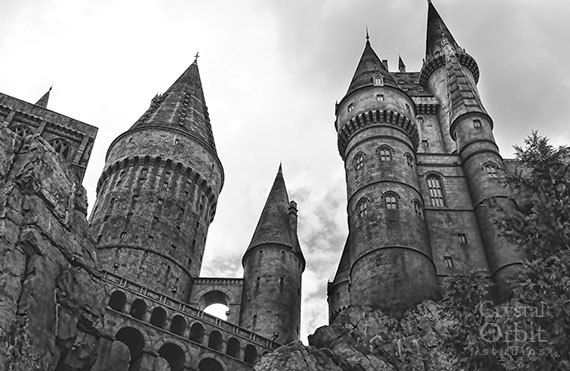 Hogwarts Castle, Harry Potter Wall Art, Black and White Photography, Harry Potter Print, Gothic Home Decor, Whimsical Wall Art