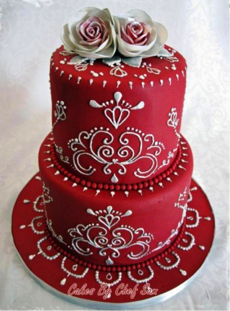 """Red Piped Cake --""""I will be this talented one day"""""""