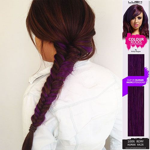 Lush Hair Extensions- Holly Hagan Colourful range in purple