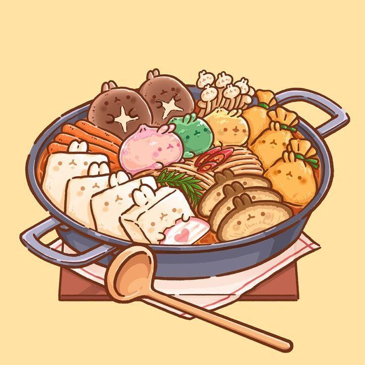 Illust Durch Schmetterlings Graben Bearbeitet Von Wenn Weisse Ente Heiss Enormer Luxus Warme Cute Food Drawings Cute Food Art Kawaii Drawings Chibi anime food wallpaper