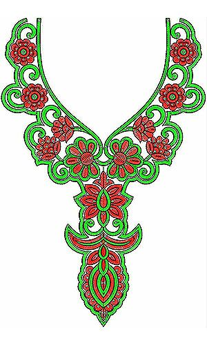 Cloak Clothing Designer Embroidery Design