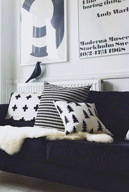 How to style your home like a pro - 10 on trend must haves to create the wow factor (Part 1) | Fine Little Day | Gran cushion | Styling | Black and white | The Little Design Corner