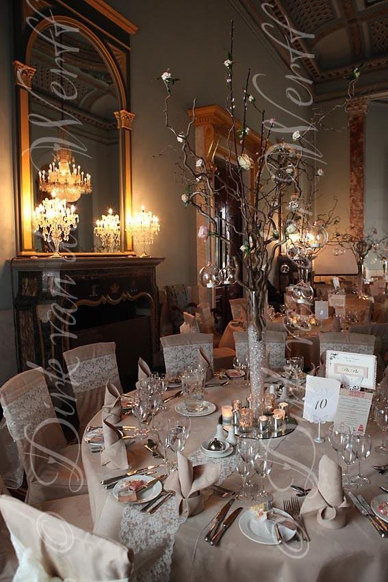 BALLROOM DETAIL AT KIRSTY AND CHRIS' WYNYARD HALL WEDDING, ENGLAND