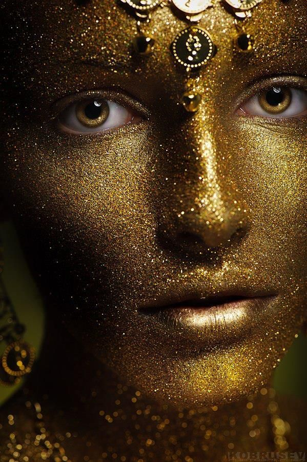 how to make gold face paint