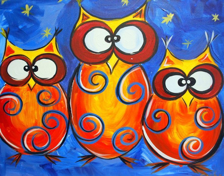 Painting with a twist owl via canvas by u owl crazy for Painting with a twist charlotte nc