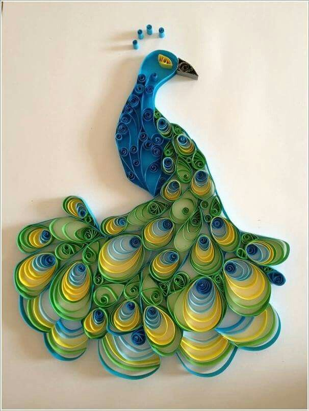 Paper Quilling Art Crafts Project Ideas Craft Easy Dreams Peafowl Pavo Real