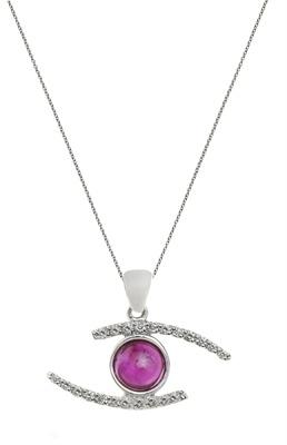 Li-La-Lo  pendant in 18K white gold with ruby & br 0,132ct