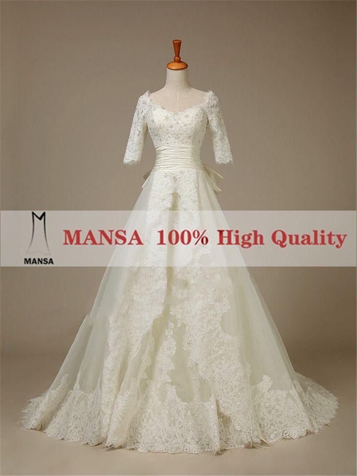 Манса образец империя кружево свадебное платье с рукавами винтаж кап рукава свадебные платья мусульманского свадебное платье на заказ, принадлежащий категории Свадебные платья и относящийся к Одежда и аксессуары на сайте AliExpress.com | Alibaba Group