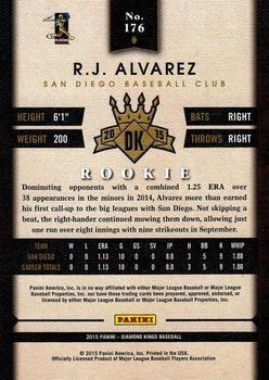 2015 Panini Diamond Kings #176 R.J. Alvarez Back