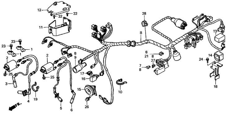 2004 Honda Shadow Sabre 1100 VT1100C2 WIRE HARNESS Parts