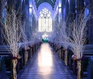 ceremony, I've always wanted trees inside the chapel
