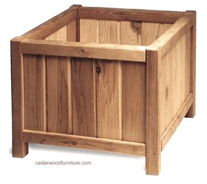 Square planter box small or large options for the home for Outdoor furniture launceston