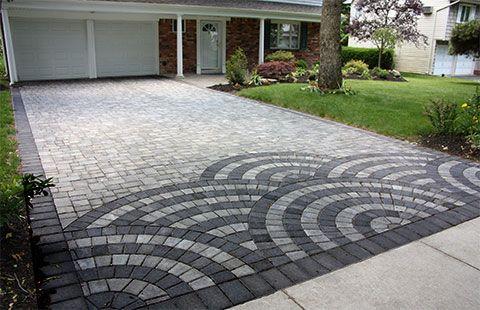 beautiful brick driveway long island