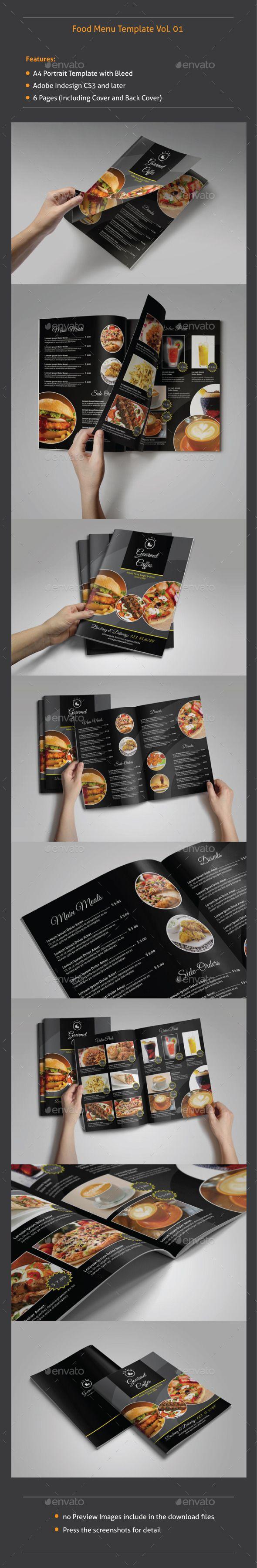Food Menu Template #design Download: http://graphicriver.net/item/food-menu-template-v01/9385485?ref=ksioks