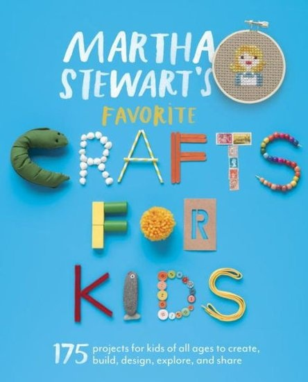 Martha Stewart's Favorite Crafts for Kids ($25) has 170 crafts for kids ages 3-12. Coming out June 18.