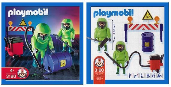 PLAYMOBILE 3180Hazmat Crew 2002
