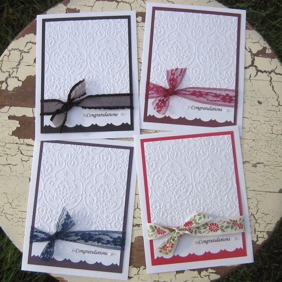 Handmade Wedding Card by EmbellishbyJackie on Etsy, $4.00