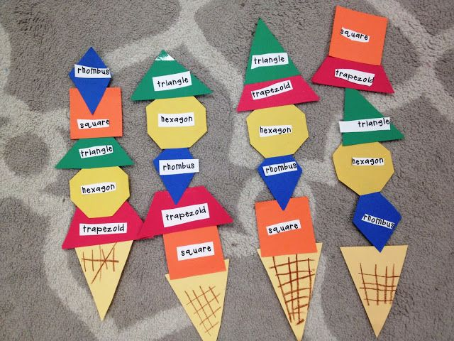 Shape Ice Cream! (pinned by Super Simple Songs) #educational #resources for #children