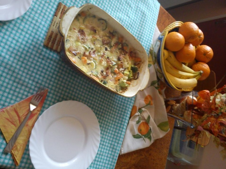 Lunch - vegetables, cheese and egg :)