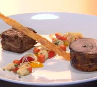 Pressure Test: Slow Roasted Lamb Shoulder with Lamb Shank Terrine, Vegetables and Jus | Recipes | Masterchef South Africa | SA Reality TV Show. One of the best meals I've ever cooked! :)