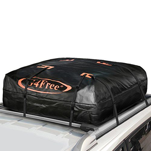 G4Free 11.3 Cubic Feet Car Top Carrier, Easy to Install Soft Roof Top Cargo Bag with Wide Straps-Works With or Without Roof Rack. For product info go to:  https://www.caraccessoriesonlinemarket.com/g4free-11-3-cubic-feet-car-top-carrier-easy-to-install-soft-roof-top-cargo-bag-with-wide-straps-works-with-or-without-roof-rack/
