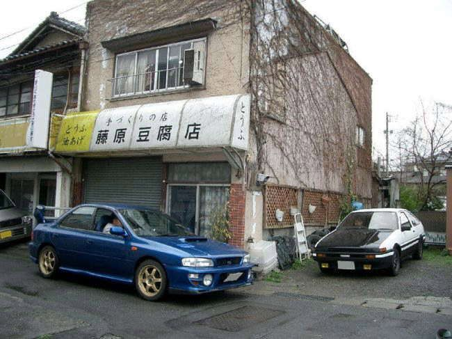 Initial D anime scoobs, Subaru and AE86