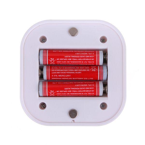 Mini Wireless PIR Motion Sensor Night Light Battery Powered Porch Cabinet Lamp