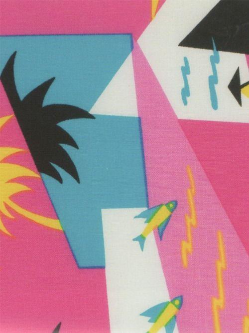 80s textile print