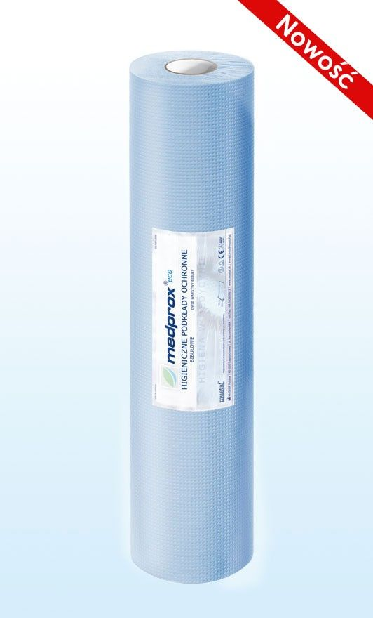 Prześcieradło jednorazowe MEDPROX eco 50 cm, kolor zielony, niebieski