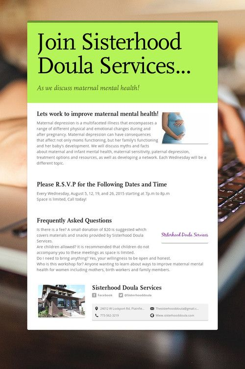 Help spread the word about Join Sisterhood Doula Services.... Please share! :)