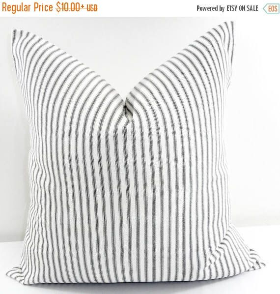 SALE Black  Pillow cover. Black Classic  stripe Print Sham Cover. Black & White Throw pillow cover. Euro pillow case. Select size by TwistedBobbinDesigns on Etsy https://www.etsy.com/listing/387197488/sale-black-pillow-cover-black-classic