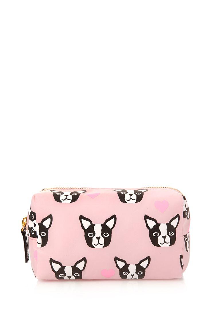 Boston Terrier Cosmetic Bag #F21Cosmetics