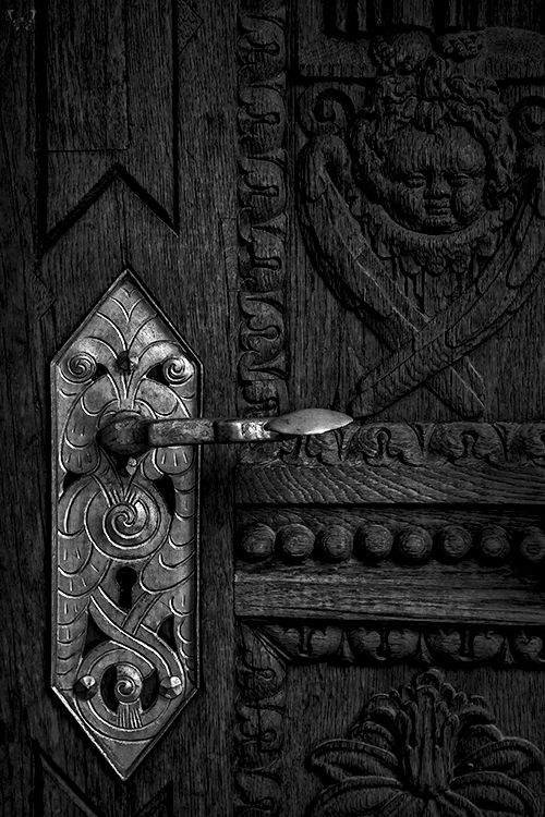 """Crypt Handle - SanVito Cathedral, Prague (David River ©) """"I've got the key to my castle in the air, but whether I can unlock the door remains to be seen."""" - Louisa May Alcott, Little Women For Ashka … (Please leave quote & credit Ƹ̴Ӂ̴Ʒ)"""