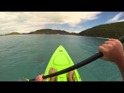 GoPro HD: Kayaking Cinnamon Bay St. John USVI.  I filmed this video with a GoPro HD Hero3 Black Edition attached to the GoPro head strap mount.  Cinnamon Bay is one of the best spots for kayaking, paddle boarding, windsurfing and sailing on St. John USVI.  I highly recommend visiting Cinnamon Bay Beach while in the Virgin Islands.  Please share this video with others and thanks for watching!  Have a good day!