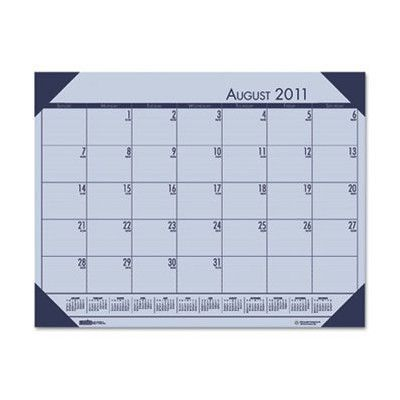 HOUSE OF DOOLITTLE                                 EcoTones Academic Desk Pad Calendar Color: Orchid