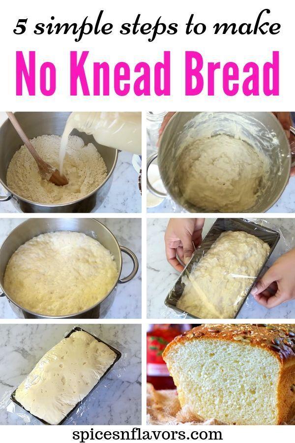 Easy Super Soft No Knead Bread Recipe In 5 Steps Recipe Knead Bread Recipe No Knead Bread Bread Recipes Homemade